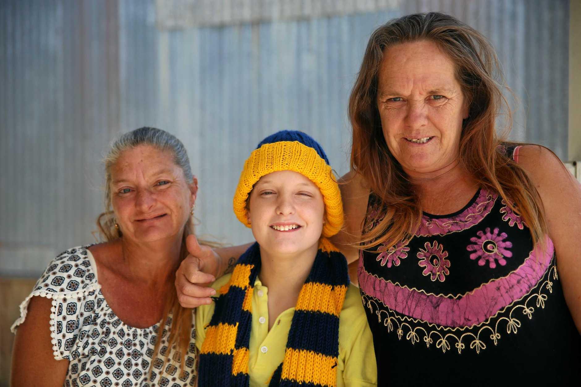 Shelley Evans, her daughter Gemma, and friend Lisa Kent.