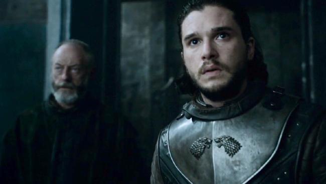 Ser Davos with Jon Snow.
