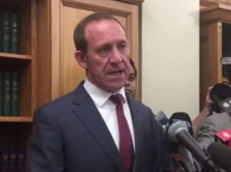 Labour leader Andrew Little has stood down as Labour leader.
