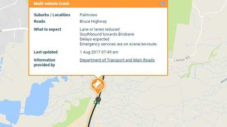 The Department of Transport and Main Roads has issued a high priority alert over the crash.