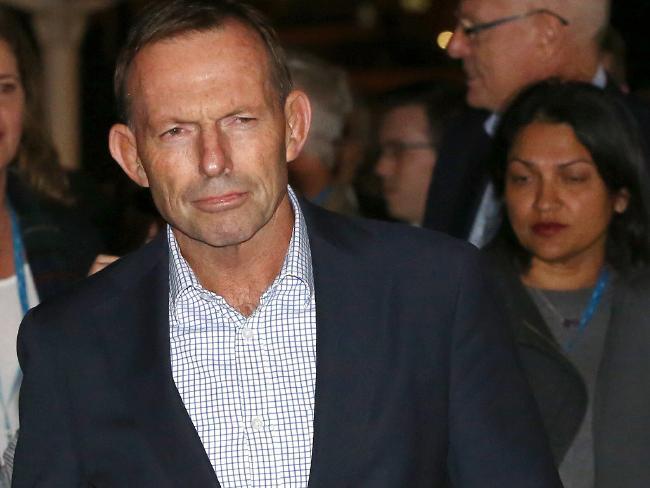 Tony Abbott... already campaigning on the no vote.