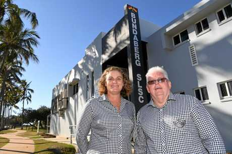 LIFE MEMBERS: Wendy Johnston and Robert Cremer from the Bundaberg SLSC were awarded Life Membership.