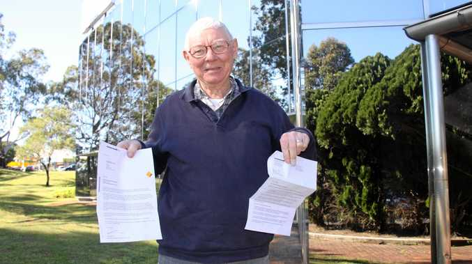 HAPPY CUSTOMER: Alstonville resident John Reilly is now happy with the Commonwealth Bank's assistance after they initially did not inform him his safe deposit parcel was damaged during the floods.