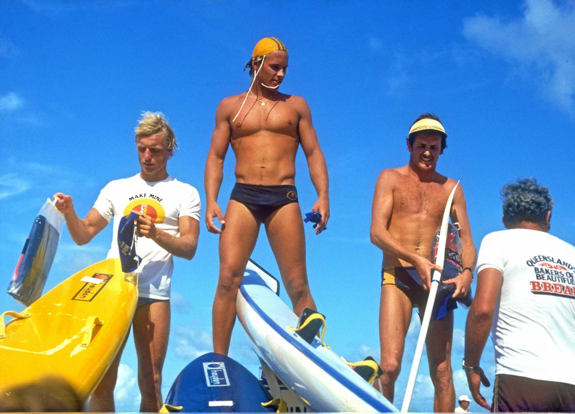 Grant Kenny wins the Ironman at the Surf Lifesaving Titles, 1980Photo Linday Hope