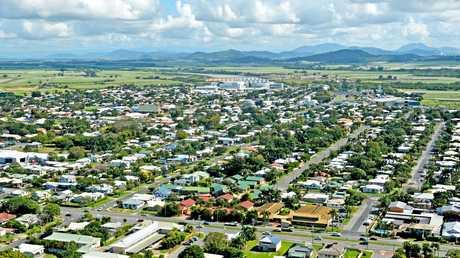 An aerial shot of housing in Mackay.
