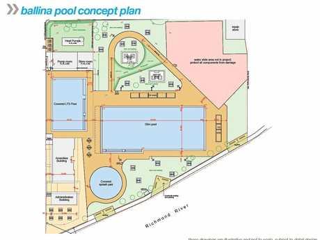 Ballina memorial pool design plans.