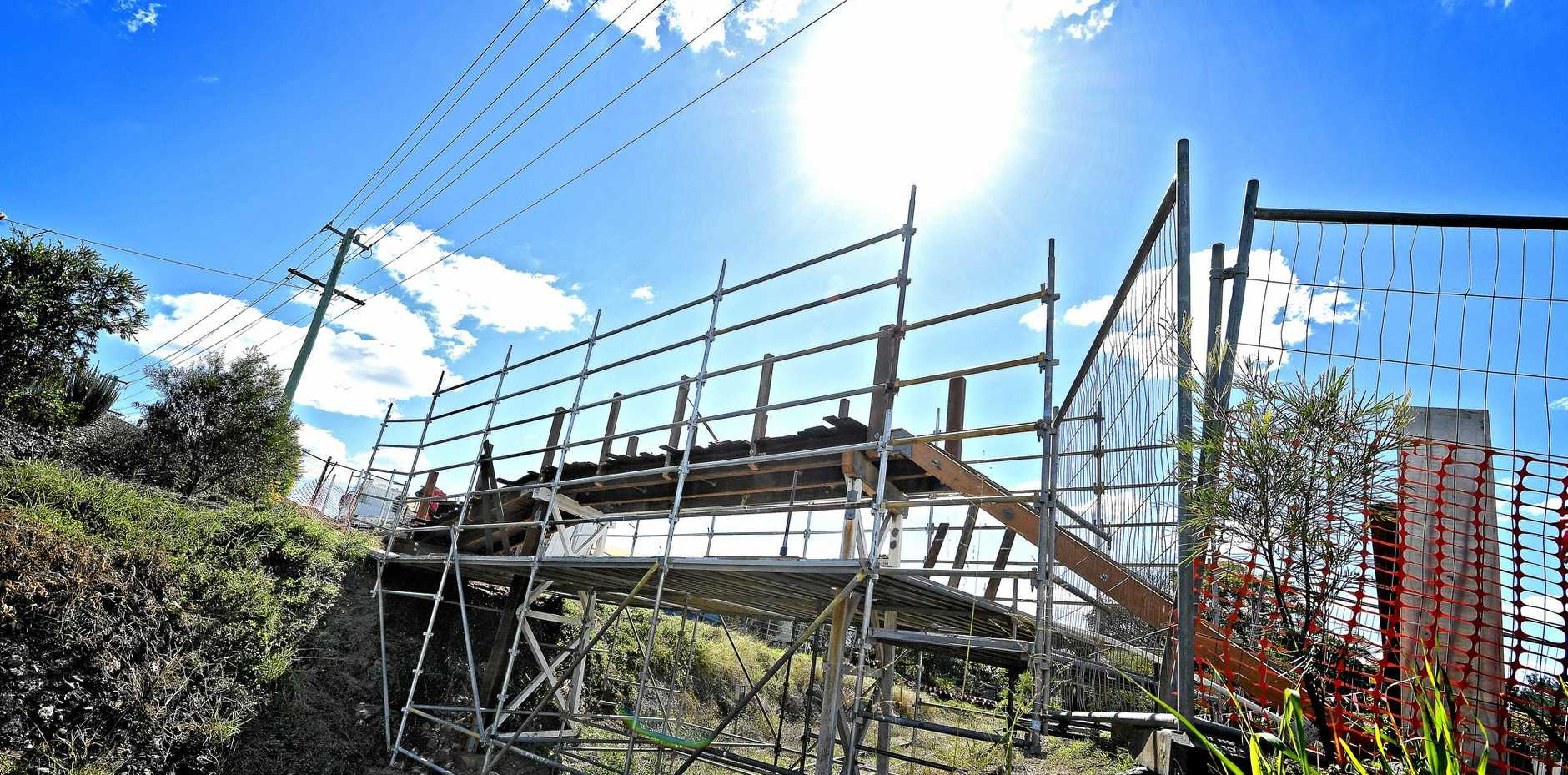 The Shanks St rail footbridge is getting an upgrade.