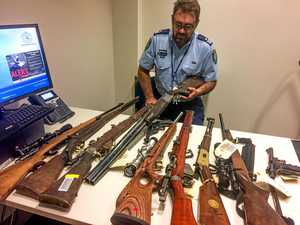 WATCH: Diverse calibre of 200 guns surrendered to police