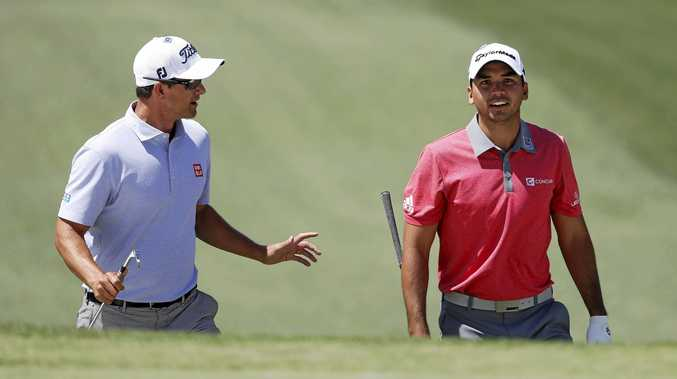 Australians Adam Scott (left) and Jason Day will line up in the International team at the Presidents Cup challenge next month.