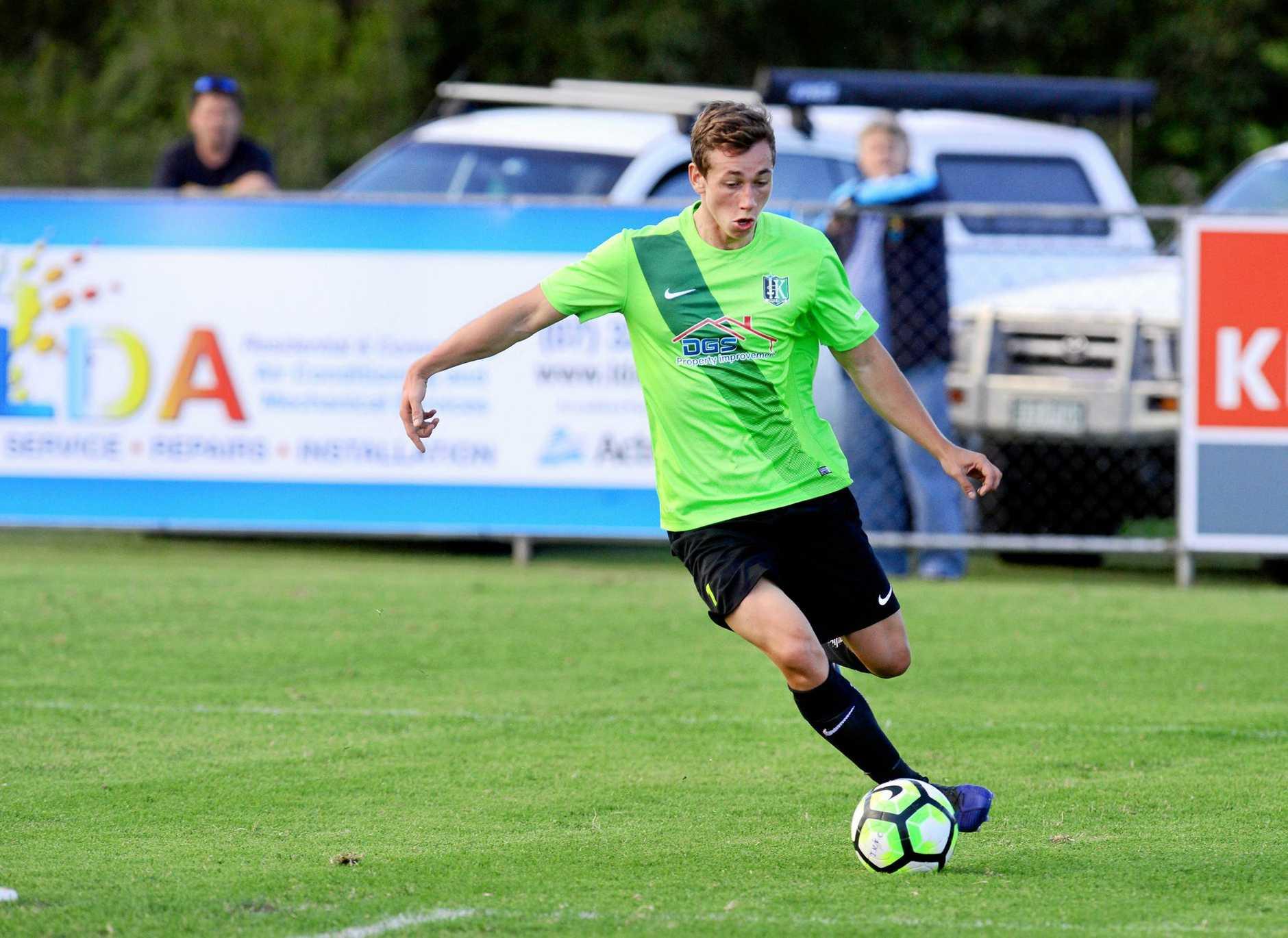 Ipswich Knights goal scorer Elliot White.