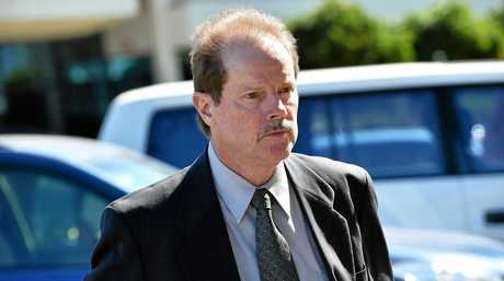 ACCUSED: Paul Gerard Crimmins, 59, leaves the Maroochydore Court House, where he is on trial on a charge of dangerous driving causing death and grievous bodily harm.