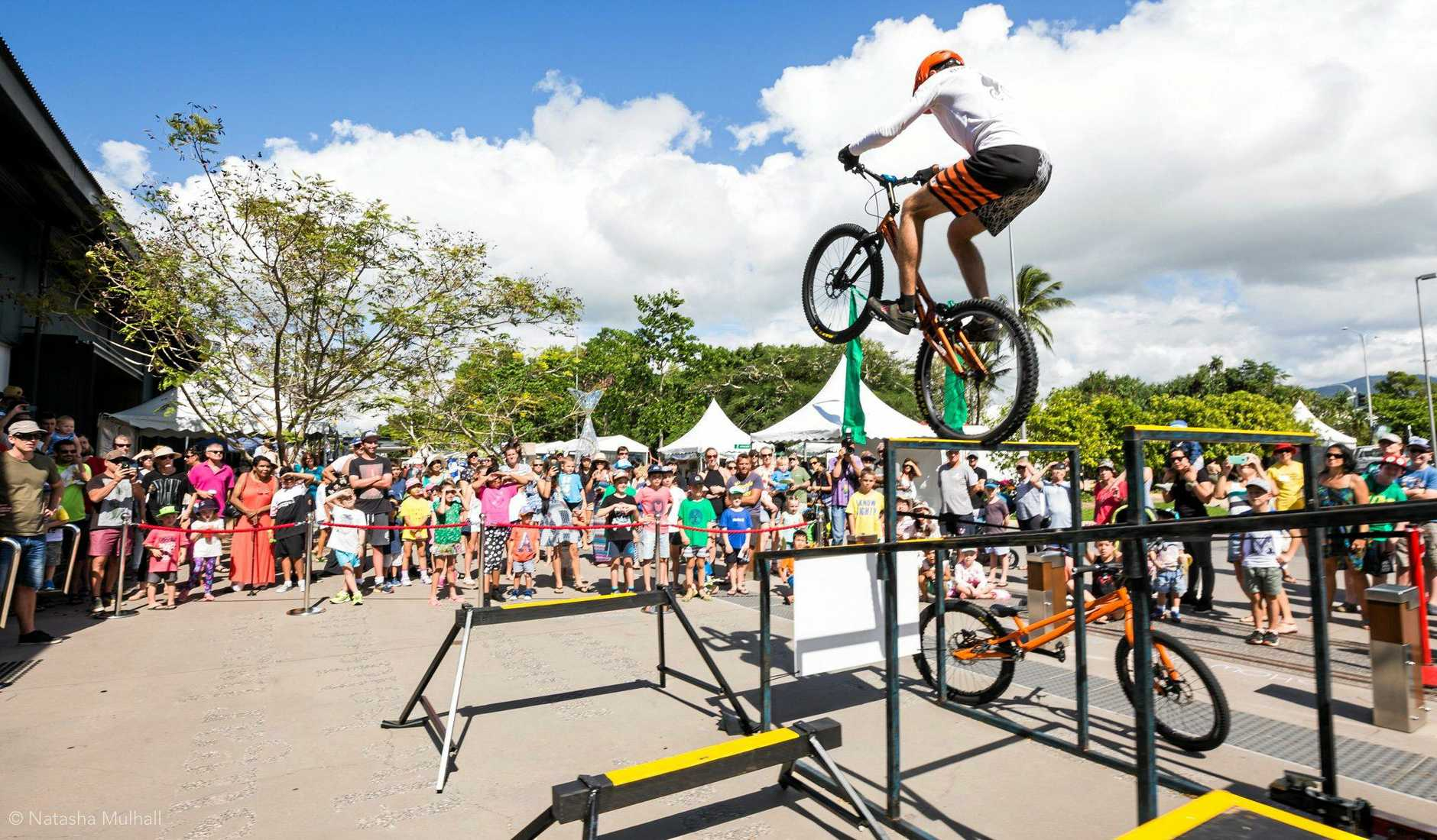 ACTION APLENTY: Borys Zagrocki, a professional trials bicycle rider, performer and instructor will be making regular appearances at the Telstra Family Fun Day.