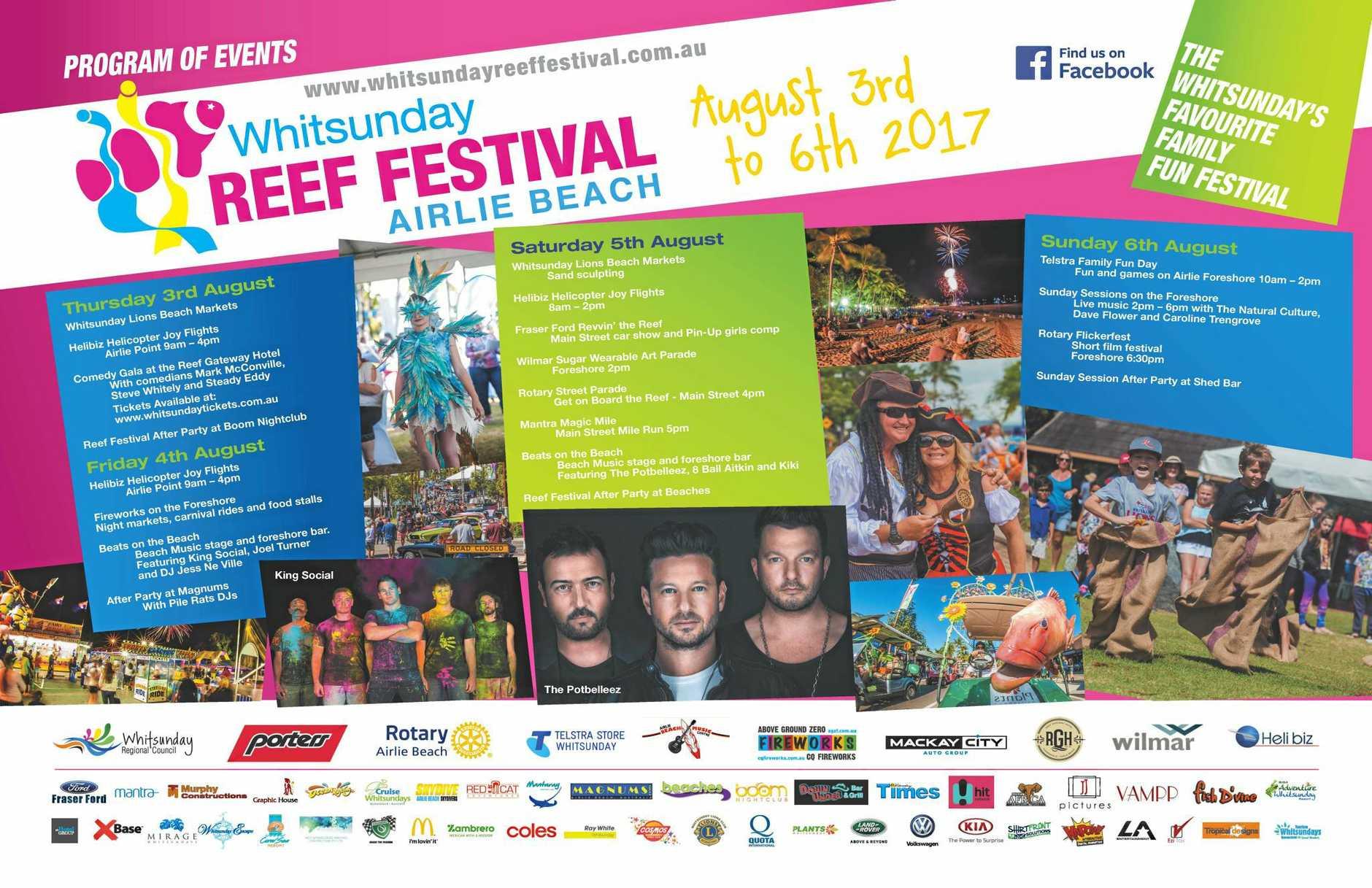 The Reef Festival program.