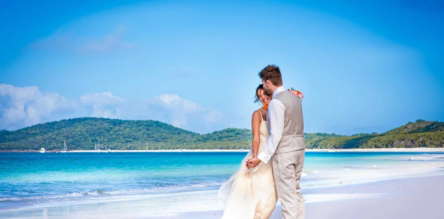 PICTURE PERFECT: A Whitsunday wedding.