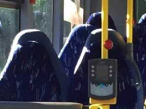 Far-right group mistakes bus seats for Burqas