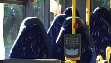 Norwegian anti-immigrant group mistakes bus seats for Muslim women wearing burqas