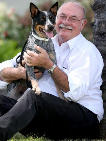 Queensland MP Warren Entsch with blue heeler Snuggles. Picture: Marc McCormack