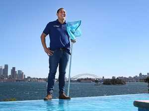 Olympian Geoff Huegill dives into new pool-cleaning job