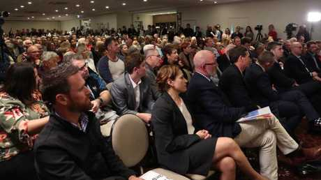 It was a full house at the Currumbin RSL.