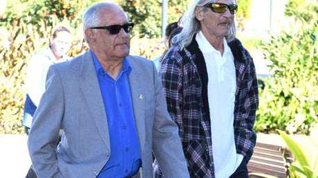 Lynette Daley's stepfather Gordon Davis (left) and father Hector Daley. Picture: AAP