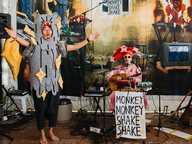 Monkey Monkey Shake Shake Opening Night and Performance Saturday 12 August4-6pm – Free.