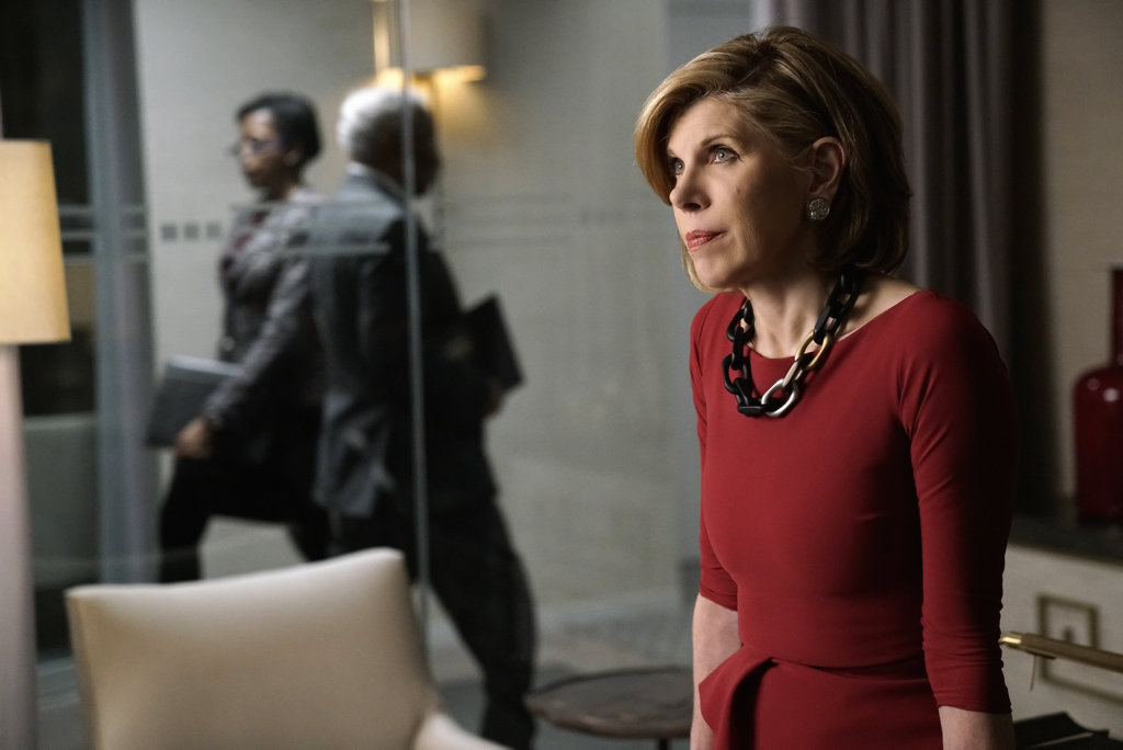 Christine Baranski as Diane Lockhart in a scene from The Good Fight.