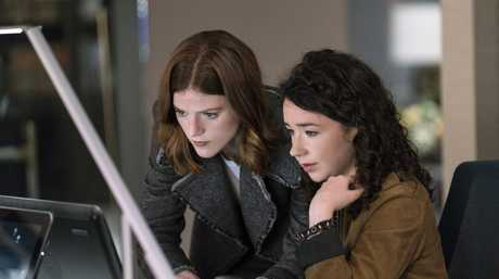 Rose Leslie and Sarah Steele in a scene from The Good Fight.