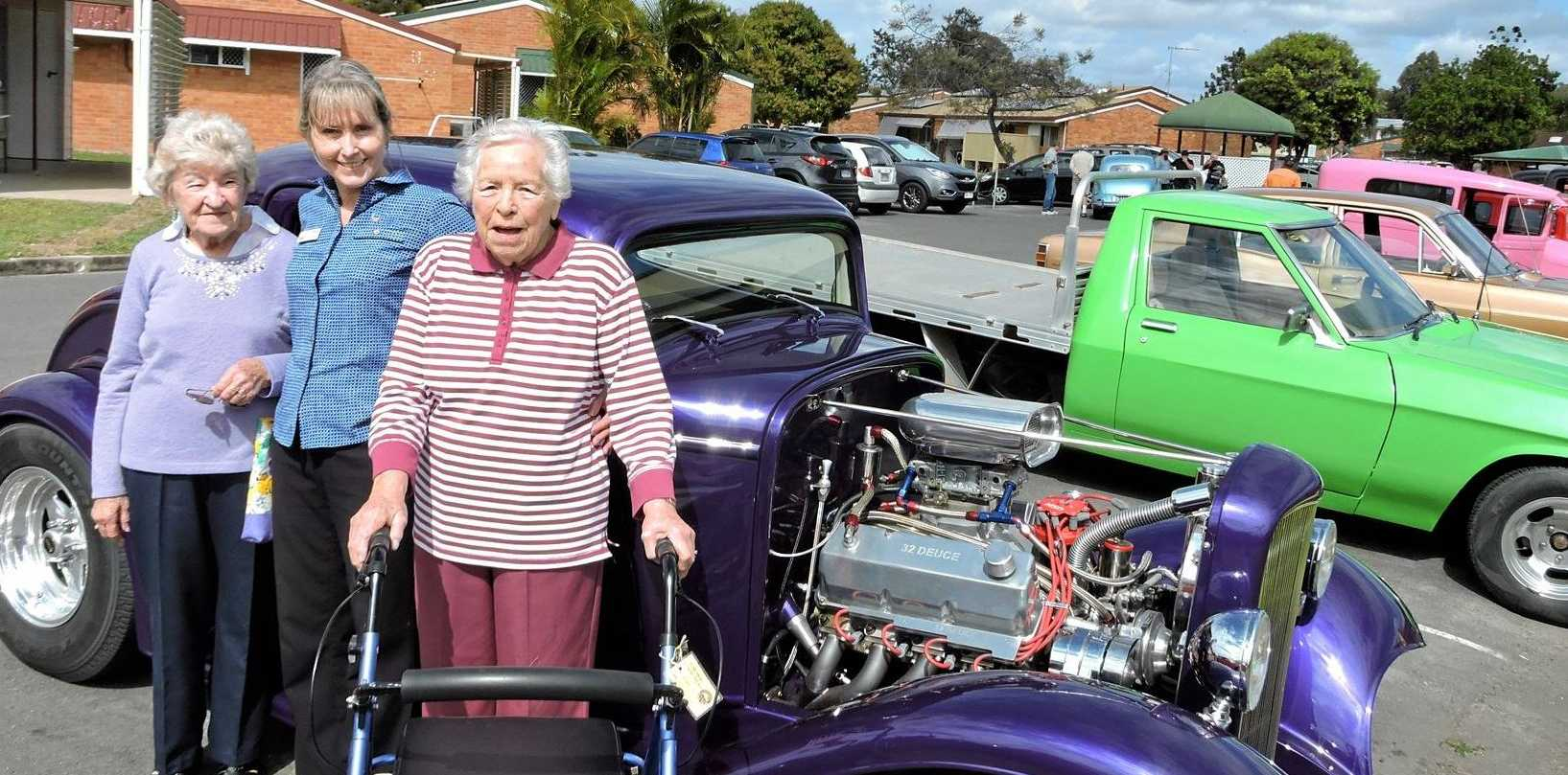 BUSY SENIORS: Fair Haven residents Beryl Peters (left) and June Parry (right) with Juliet Henderson during a previous Seniors Week car show.
