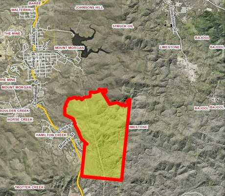 Land earmarked for a proposed 382-lot development in Mount Morgan.
