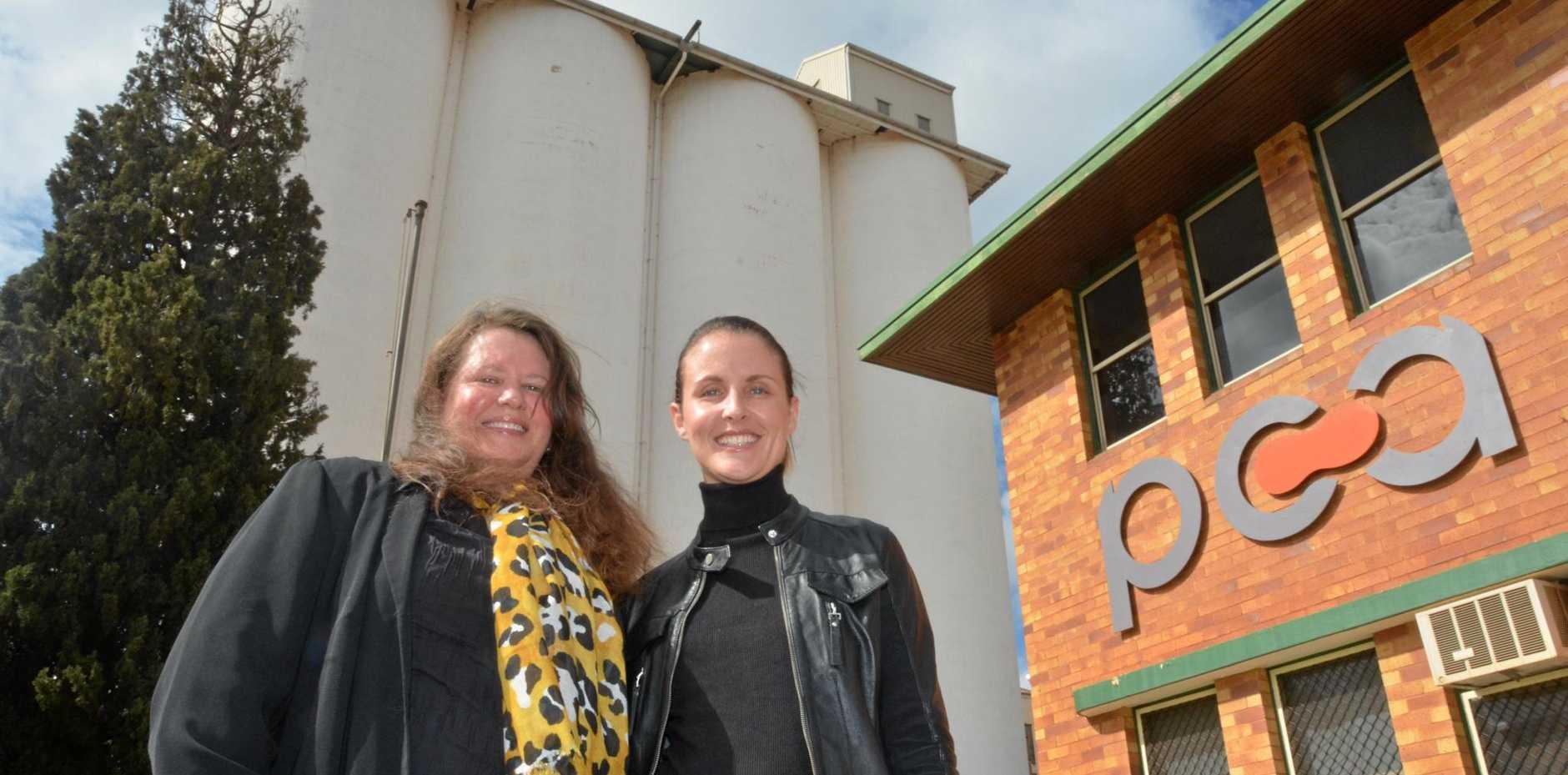 ARTISTIC NEW PLAN: South Burnett Regional Councillor Danita Potter and PCA General Manager of Sales and Marketing Toni Cohen.