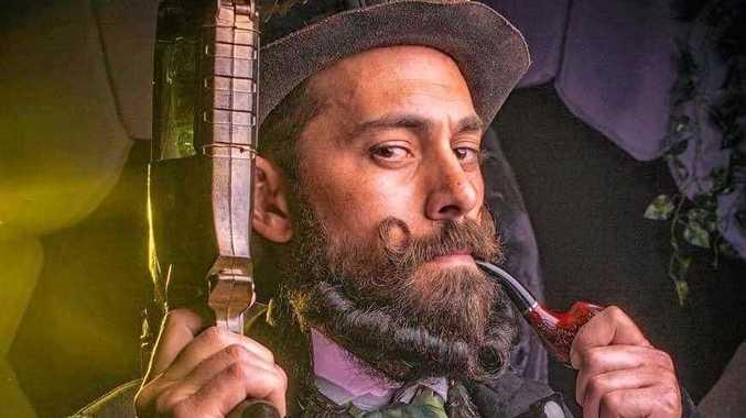 Carlos Lemura dressed in steampunk attire.