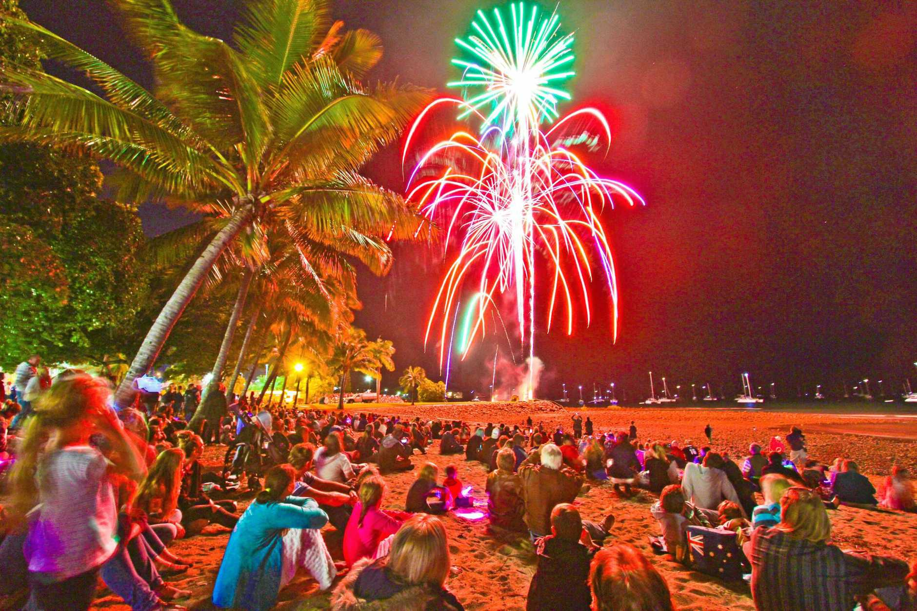 LIGHT THE SKY: Thanks to a generous donation, the Fireworks on the Foreshore will go ahead at this year's Whitsunday Reef Festival.