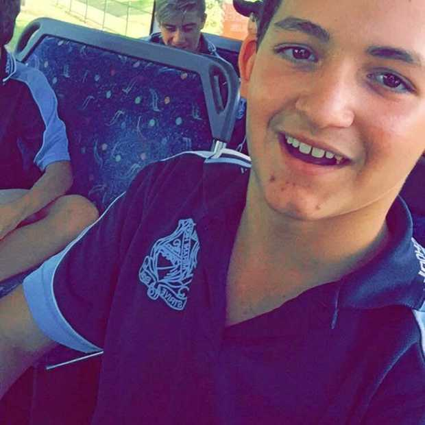 POOR GUY: 15-year-old Jayden Galea was struck down with a serious infection after falling into stagnant flood water following Cyclone Debbie.