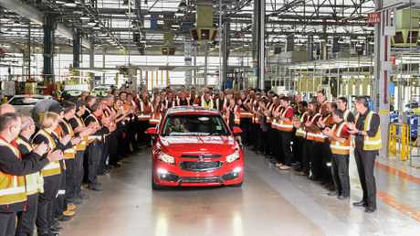 Holden honours manufacturing legacy with final Cruze small car.