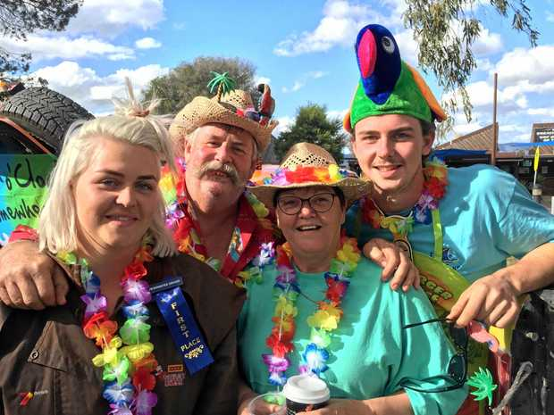 VARIETY BASH: Richard and Sue Nevins passed on their love of the Variety Bash to their children Lizzy and Jack.