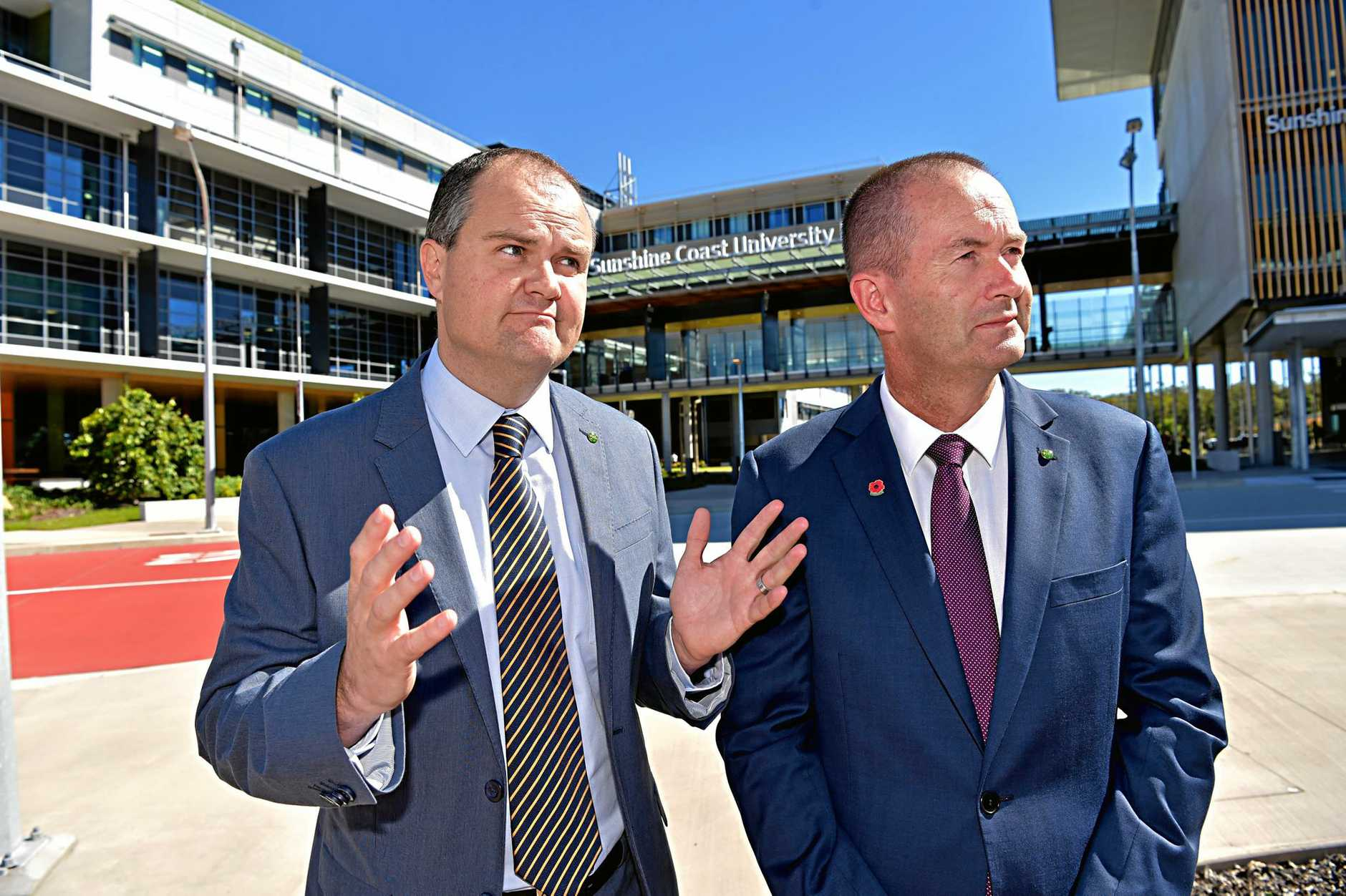 SUNSHINE Coast MPs Ted O'Brien (left) and Andrew Wallace both have declared they won't support any private member's bill to bring on a vote on marriage equality in Federal Parliament. They support a national plebiscite.
