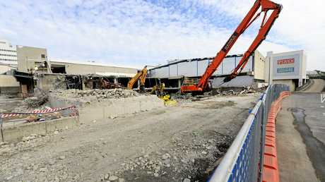 Demolition work continues in the Ipswich City Square site.