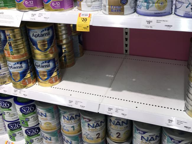 Some supermarkets now keep emergency tins locked away with the cigarettes.Source:Supplied