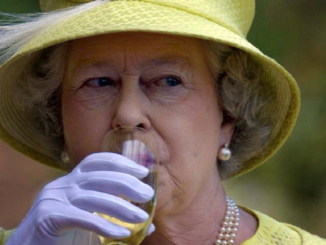 Queen Elizabeth II reportedly drinks two cocktails a day. Picture: Supplied.Source:News Limited