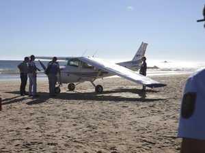 Plane crashes into beach, kills two