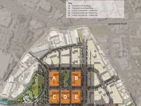 PLANS: The city blocks set to be developed by John Holland.