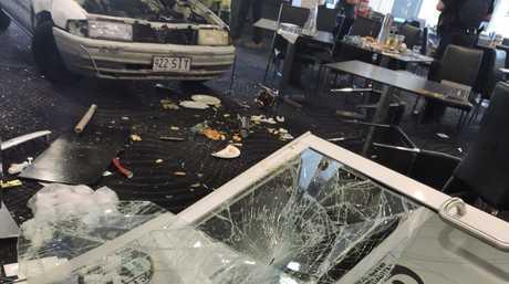 Car crashes through Old Sydney Hotel's bistro on Ellena St, Maryborough.