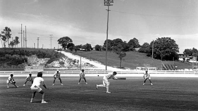 A match between Nambour and Southern District at Nambour in 1973.