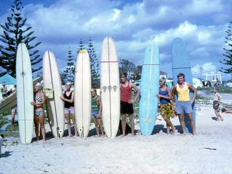 Members of The Moffateers at Moffat Beach for a competition in 1967.