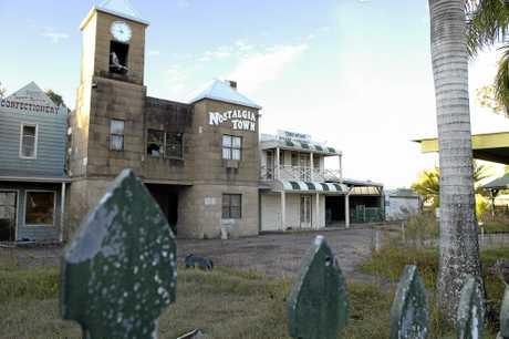 The Nostalgia Town theme park was demolished to make way for a housing estate.