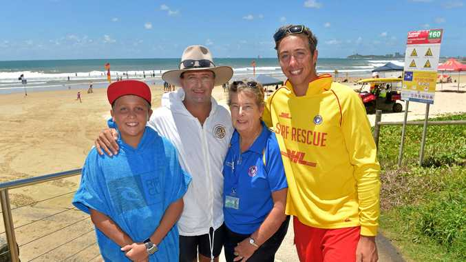Three generations of the Buhk family from Alexandra Headland SLSC - Lorraine with son Andrew and grandsons Declan and Connor - playing a proud role in keeping our beaches safe.
