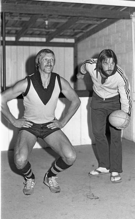 Sunshine Coast team members at Noosa in 1981.