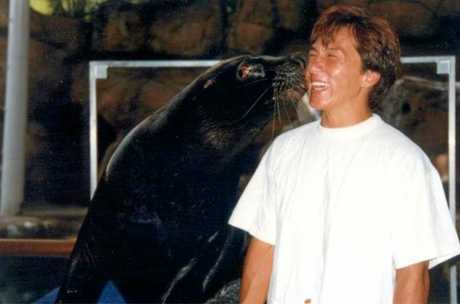 Jackie Chan meets the stars while shooting a movie at the then UnderWater World, now Sea Life Mooloolaba, in 1995.