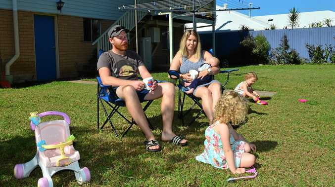 I HOPE IT STAYS THE SAME: Chris and Lauren Graffen with their family Skylah, 4, Marnie, 2, and Angus, 8 months,  have great hope for the future on the Sunshine Coast.