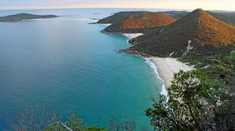Looking over Zenith Beach from just one of the amazing lookout spots at the top of Mt Tomaree.